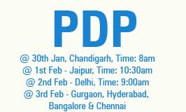 PDP Bootcamp at Chandigarh, Jaipur, Delhi, Gurgaon, Roorkee, Hyderabad, Bangalore, Kolkata, Bhubneshwar, Mumbai & Chennai!!