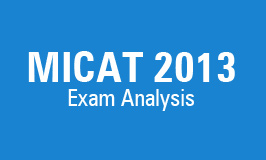 MICAT – 2013 Analysis