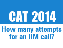 CAT 2014: How many attempts for an IIM call?