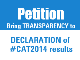 Petition: Bring TRANSPARENCY to DECLARATION of #CAT2014 results