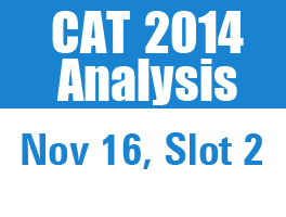 CAT 2014 Analysis: Nov 16, Evening slot