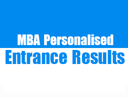 MBA Personalised Entrance Results